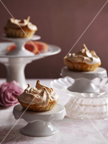 Tartlets topped with meringue