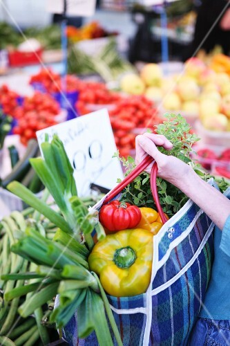A large purchase of vegetables
