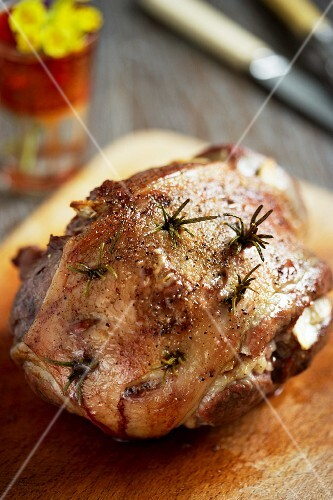 Roast lamb with rosemary for Easter
