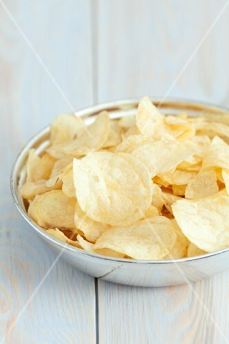 Potato crisps with salt