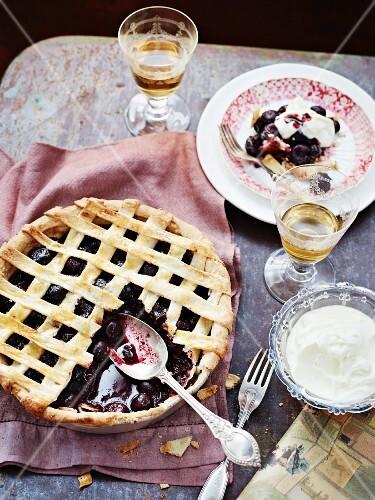 Winter cherry pie