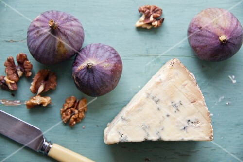 Stilton with walnuts and figs