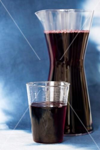 Fresh blueberry juice