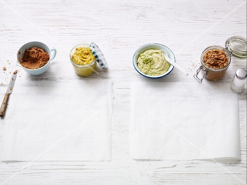 Four quick vegan spreads