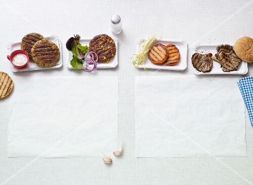 Quick grilled vegan patties