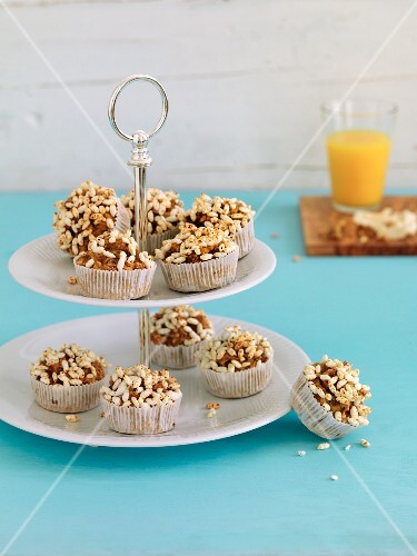 Breakfast muffins with puffed rice