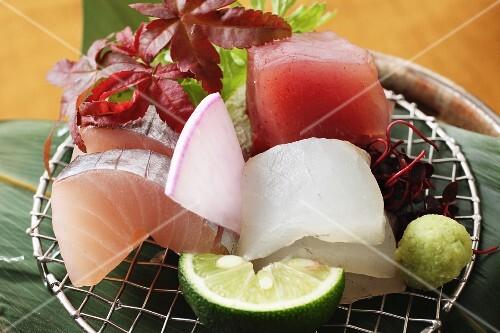 Sashimi with wasabi (Japan)