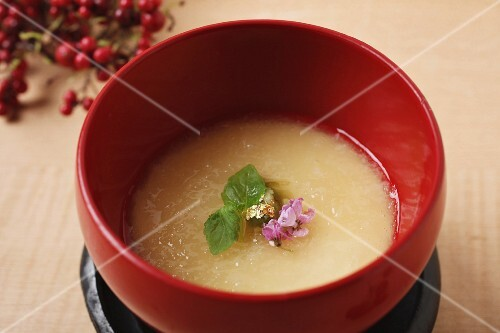Traditional vegetable soup from Japan