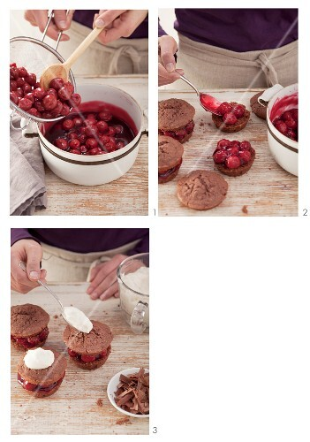 Black Forest Gateaux muffins being made