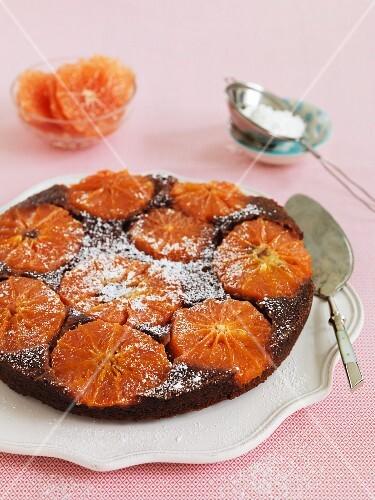 Vegan grapefruit cake