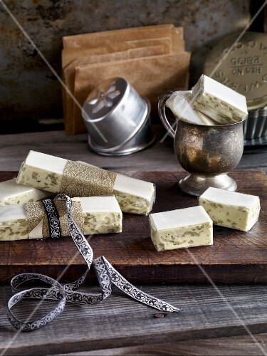 Turron with pumpkin seeds and pumpkin seed oil