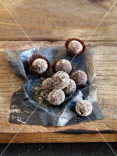 Rum truffles