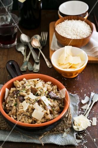 Risotto ai porcini (porcini mushroom risotto, Italy)
