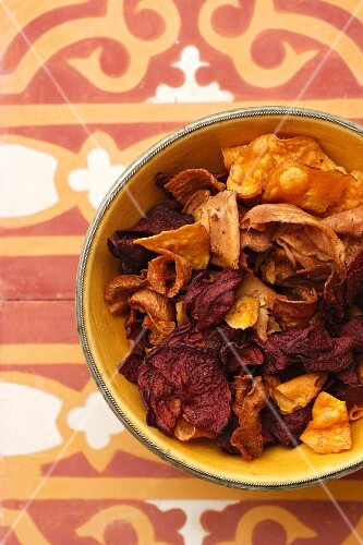 Colourful vegetable chips