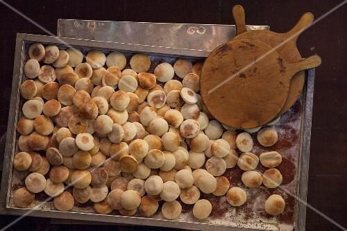 Freshly baked unleavened bread