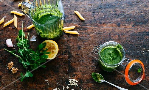 Homemade parsley pesto