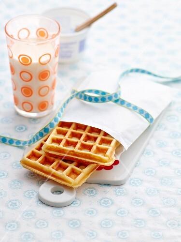 Yogurt waffles