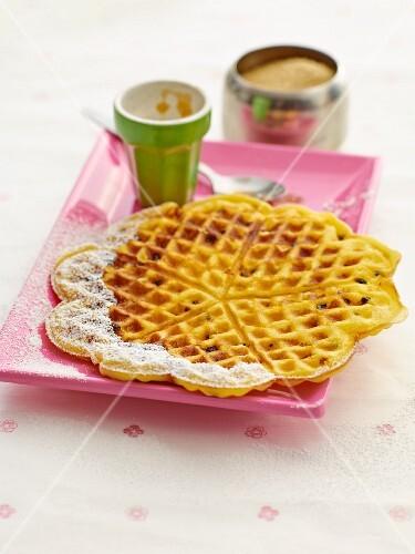 Passion fruit waffles