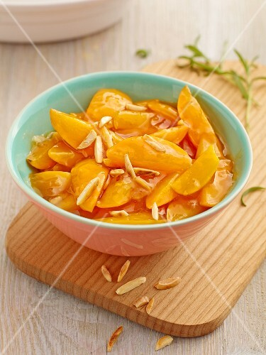 Apricot and rosemary compote with almonds