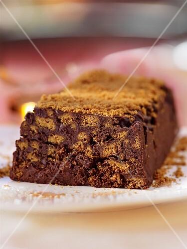 A chocolate-gingerbread terrine