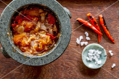 Tomato and chilli dip, Laos