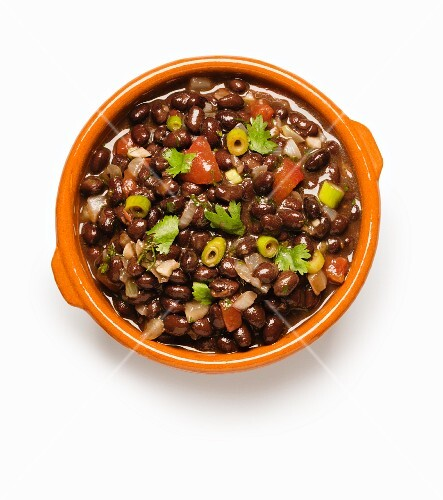 Black bean stew with tomatoes and chilli peppers (Mexico)