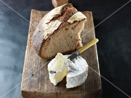 Camembert with crispy country bread