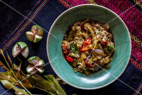 Aubergine and chilli dip from Laos