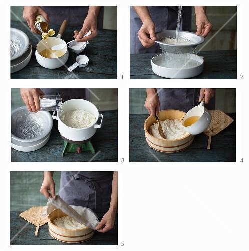 Sushi-Reis kochen