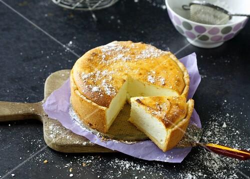 A mini cheesecake