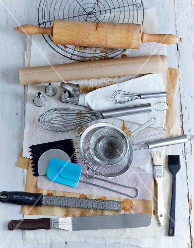 Various baking utensils