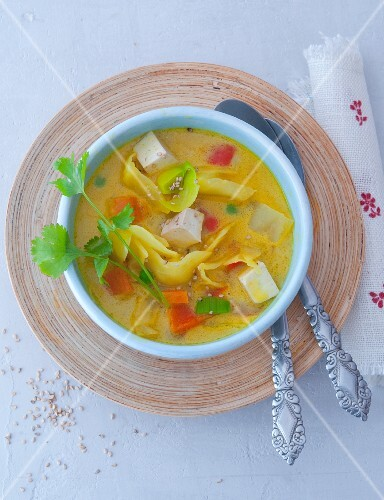 Vegetable soup with tofu (Asia)