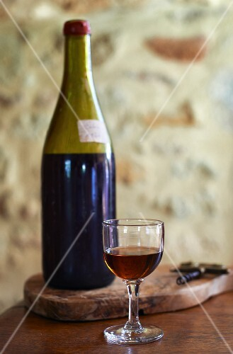 Calvados in a bottle and a glass