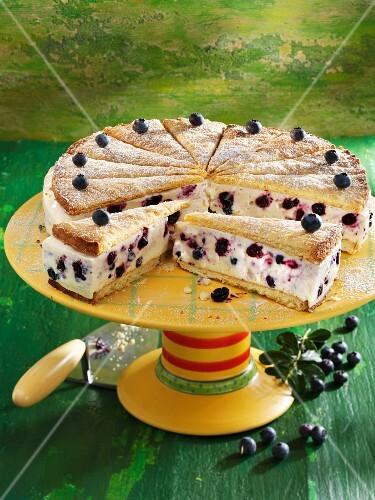 Lavender cream cheese cake