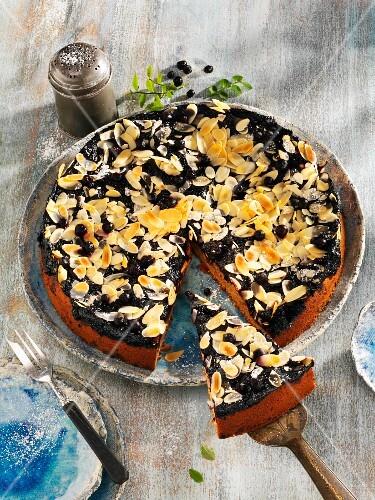 Spiced blueberry cake