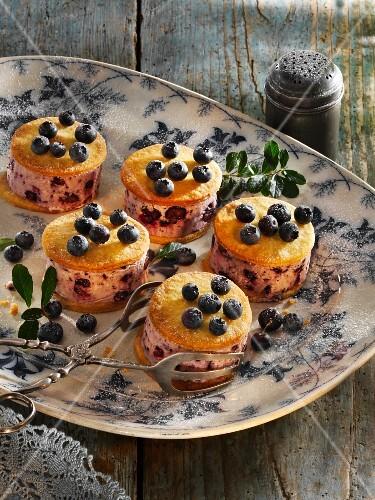 Blueberry ice cream sandwiches