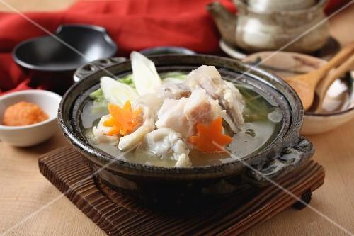 Nabemono (Japanese stew) with fish