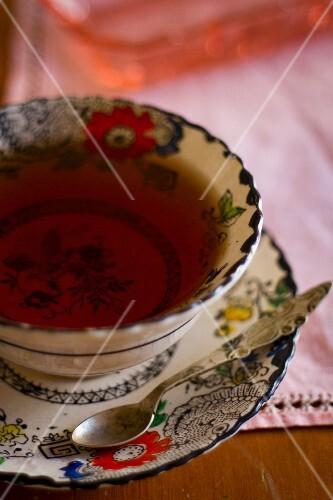 Tea in a tea bowl (Asia)