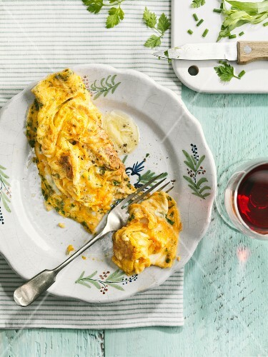 Omelette with herbe