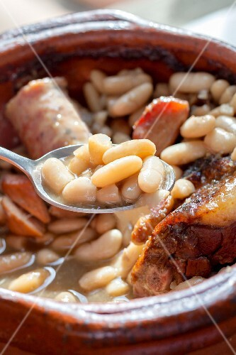 French cassoulet with white beans