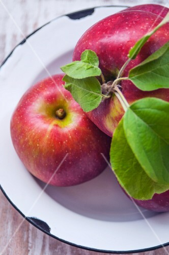 A bowl of freshly picked apples