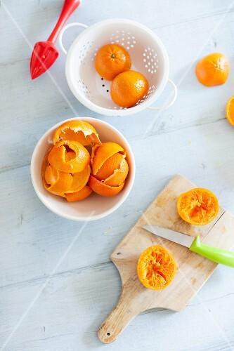 Squeezed mandarines