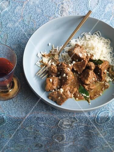 Pork curry with rice (Kerala, India)