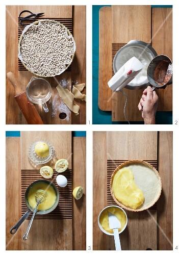 Making lemon tart
