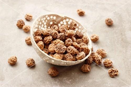 A bowl of tigernuts