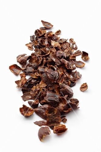 Shells of dried coffee cherries for making tea (cascara)