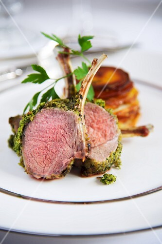Lamb with a herb crust