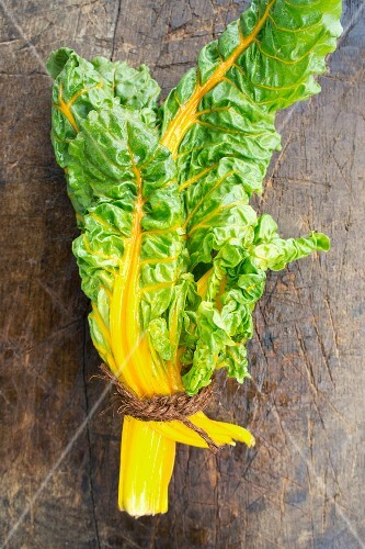 A bunch of yellow chard