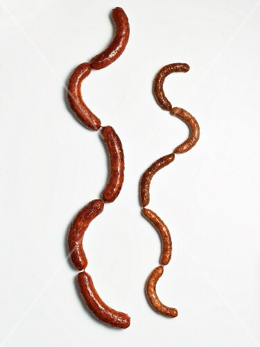 Two chains of sausages