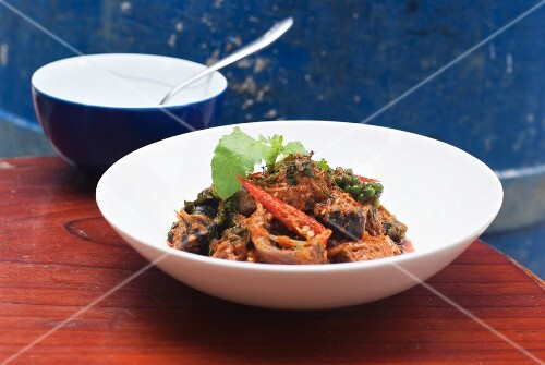 Fried ray with chilli, basil and peppercorns (Thailand)